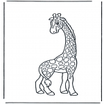 animals coloring pages - Giraffe 2