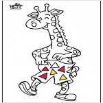 Animals coloring pages - Giraffe 5