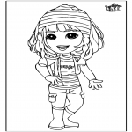 Kids coloring pages - Girl 3