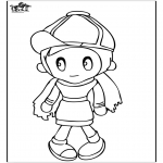 Kids coloring pages - Girl 4