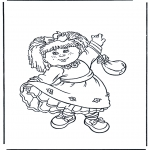 Kids coloring pages - Girl with dress