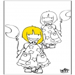 Kids coloring pages - Girls 1