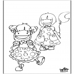 Kids coloring pages - Girls 2
