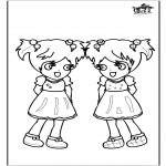 Kids coloring pages - Girls 3