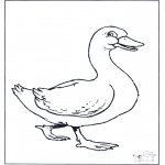 Animals coloring pages - Goose 2