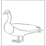 Animals coloring pages - Goose