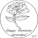 Theme coloring pages - Grandpa's birthday