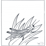 Animals coloring pages - Grass-hopper