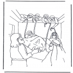 Bible coloring pages - Haealing of the paralysed man 1