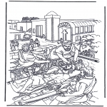 Bible coloring pages - Haealing of the paralysed man 2