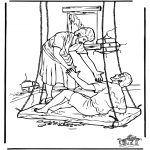 Bible coloring pages - Haealing of the paralysed man 4