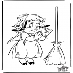 Theme coloring pages - Halloween find 10  brooms