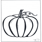 Theme coloring pages - Halloween pumpkin