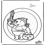 Theme coloring pages - Halloween suncatcher 1