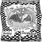 Theme coloring pages - Happy Birthday 1