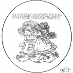 Theme coloring pages - Happy Birthday 2