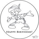 Theme coloring pages - Happy Birthday 3