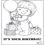 Theme coloring pages - Happy Birthday 4