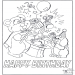 Theme coloring pages - Happy Birthday 7