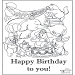 Theme coloring pages - Happy Birthday 8
