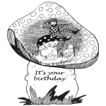 Theme coloring pages - Happy Birthday 9