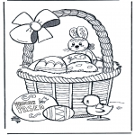 Theme coloring pages - Happy Eastern