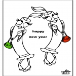 Theme coloring pages - Happy New Year 3