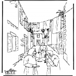 Bible coloring pages - Healing blind man