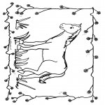 animals coloring pages - Horse 1