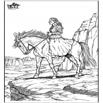animals coloring pages - Horse 10