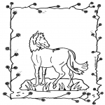 animals coloring pages - Horse 2