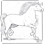 animals coloring pages - Horse 3