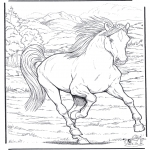 animals coloring pages - Horse 4