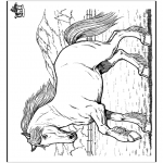 animals coloring pages - Horse 8