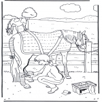 animals coloring pages - Horse care