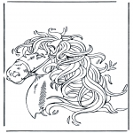 animals coloring pages - Horse head 1