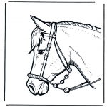 animals coloring pages - Horse head 2
