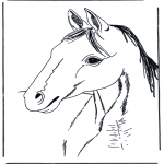 Animals coloring pages - Horse head 3