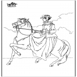 Animals coloring pages - Horseriding 6