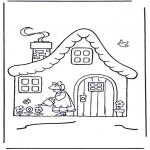 Kids coloring pages - House with flowers