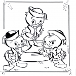 Comic Characters - Huey, Dewey and Louie 1