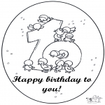 Theme coloring pages - Hurrah 10 year