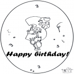 Theme coloring pages - Hurrah 3 year