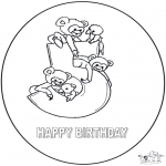 Theme coloring pages - Hurrah 5 year