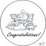 Theme coloring pages - Hurrah a baby 1