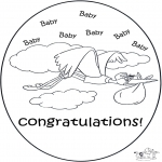 Theme coloring pages - Hurrah a baby 2