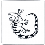 Animals coloring pages - Iguana