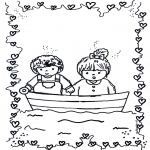 Kids coloring pages - In love 1