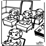 Kids coloring pages - In the clasroom 2