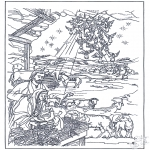 Bible coloring pages - In the manger